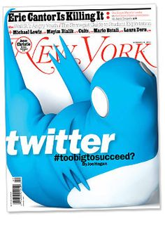 "Twitter #toobigtosucceed? - ""convert 140 characters on Barack Obama, Ashton Kutcher, narcissism, the struggle for (..) into cash"""