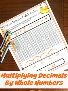 This multiplying decimals by whole numbers worksheet have children coloring in decimal grids and working on the number line to solve word problems. Number Anchor Charts, Multiplying Decimals, Percents, Line Math, Decimal Number, Fifth Grade Math, Fourth Grade, Framed Words, Math Groups