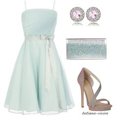 "Lovely light blue #prom #dress for your party or for your friend #wedding. ""091"" by tatiana-vieira on Polyvore"