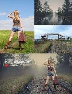 How to create a composite image in Photoshop? Photoshop For Photographers, Photoshop Photography, Photography Tutorials, Portrait Photography, Photography Lessons, Photoshop Tutorial, Photoshop Youtube, Photomontage, Photo Retouching