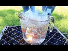 Sparklers Underwater Fire - Science Experiment