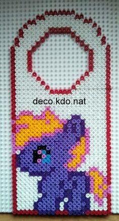 My little Pony door hanger hama perler by deco.kdo.nat