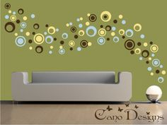 Dots and Rings, 3 Colors, 5 Sizes - Vinyl wall decals stickers, kids room, nursery, children stickers, bubbles, rings, circles