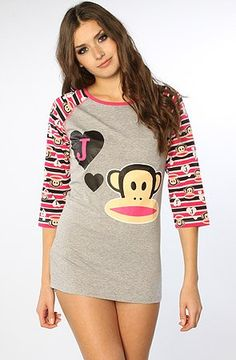 Paul Frank The J  Julius Raglan Sleepshirt $15.90