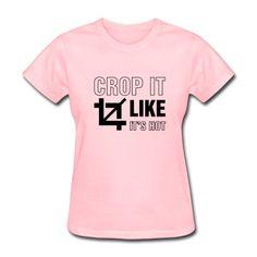 Crop It Like It's Hot T-Shirt | DJB Designs #funny #humor #jokes #saying #quotes #code #computer #nerd #meme #geek #nerd #videogames #videogame #video #game #internet #phrase #office #tee #tshirt #shirt #apparel #spreadshirt #djbdesigns #gaming