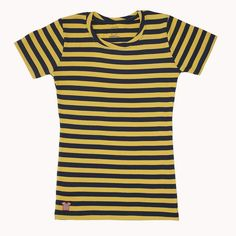 stripedshirt.com - genius idea.  Can get blue and yellow at www.stripedshirt.com $24.50
