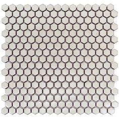 Master / Second Bathroom Tile Accent | Florida Tile Soho Simple Sage Rimmed Hexagon