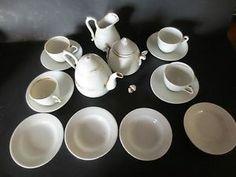Antique Teapot Tea Set Doll Dish Dishes Child Gold Trim Porcelain Vintage   eBay$42.00