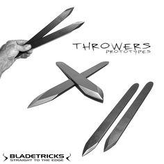 Bladetricks Throwers throwing knives prototypes