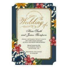 Floral Wedding Invitation - tap, personalize, buy right now! #wedding #invitation #weddingideas #weddinginspiration  #flower #floral #botanical #garden #outdoor #nature #romantic #editable