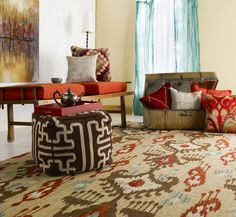 This kilim-like rug is traditional with a little modern mixed in. | Surya Frontier FT-113 Rug