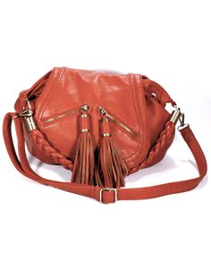 The Vegan Leather - Molly Braided Convertible Shoulder bag by Melie Bianco in gorgeous Sienna  - Reclaimed Couture $34! http://www.reclaimedcouture.com/handbags/molly-braided-convertible-shoulder-bag-by-melie-bianco/