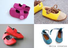Make These 4  Leather Baby Shoes by Delia Creates - Easy Tutorial