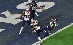 Malcolm Butler intercepts a pass intended for Richardo Lockette to prevent the Seahawks from scoring a would-be winning touchdown in the final minute.