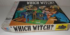 Collectible retro Which Witch Board Game manufactured by Milton Bradley would make a great addition to anyone's collection.
