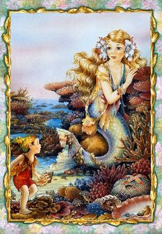 Shirley Barber mermaids  I have a puzzle book full of her mermaid art