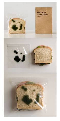 Keep your co workers and roommates away from your food with these Anti-Theft Lunch Bags.