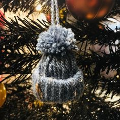 Bobble Hat hanging ornament  available at  https://m.facebook.com/Pom-Pom-Palace-1530307263716345/