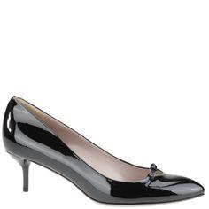 Gucci, black patent kitten heel pump, autumn winter 2013. www.wunderl.com