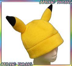 Pikachu Inspired Fleece Hat Fleece Beanie Anime Geek by AnimeNoms