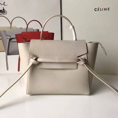 363b3415a6 Celine Micro Belt Handbag In Off White Grained Calfskin 2017     Real Bag