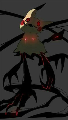 Kitty: Wat Mimikyu will do to protect you Creepy Pokemon, Ghost Pokemon, Pokemon Fan Art, My Pokemon, Cool Pokemon, Pokemon Fusion, Pokemon Stuff, Pokemon Fantasma, Pikachu