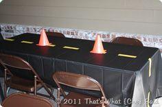 Car Party Table Ideas