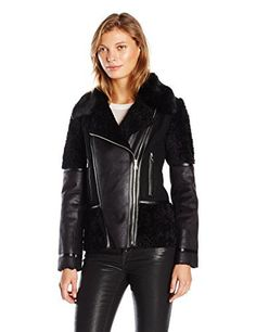 "Asymmetrical faux shearling moto jacket with faux fur collar   	 		 			 				 					Famous Words of Inspiration...""Those whom the gods love grow young.""					 				 				 					Oscar Wilde 						— Click here for more from Oscar...  More details at https://jackets-lovers.bestselleroutlets.com/ladies-coats-jackets-vests/fur-faux-fur/product-review-for-vince-camuto-womens-faux-shearling/"