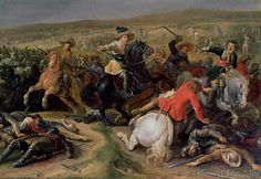 Anonymous - Gustavus II Adolphus, King of Sweden (1595-1632) leading a cavalry charge at the Battle of Lutzen, 1632
