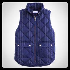 BNWT JCREW EXCURSION PINSTRIPE VESTXS Gorgeous Jcrew Excursion vest, size XS, BNWT J. Crew Jackets & Coats Vests
