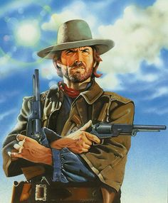 Eastwood : by Graham Kennedy by Letraset-Ltd on DeviantArt Clint Eastwood, Eastwood Movies, Westerns, The Dark Tower, The Lone Ranger, West Art, Cowboys And Indians, Cowboy Art, Red Dead Redemption