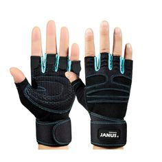 A Pair Fitness Dumbbell Training Equipment Non-slip Gloves Knee Braces Blue -- Find out more about the great product at the image link.