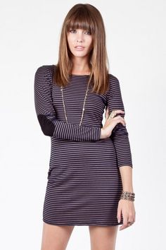 navy striped dress. cute clothes on site too.