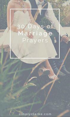 30 Days of Marriage Prayers - Simply Clarke