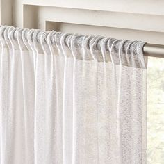 Let the light in beautifully in every room in your home with modern curtains. Shop everything from subtle sheer drapes to bold, patterned curtains. Country Bedroom Design, French Country Bedrooms, Farmhouse Bedroom Decor, Modern Curtains, White Curtains, Hanging Curtains, Bedroom Curtains, Linen Curtains, Bed Linen