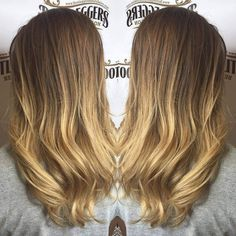 HOLY HAIR!!!! Sweet Latte Brown Hair Melted To A Beautiful Cream Soda Blonde #bootleggersbeautysalon #holyhair #beautifulhaircolor #getyourshineon #ombre #browntoblondeombre #awesomehair #burlingtonncsalon