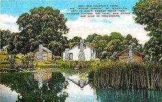 Huntsville Texas TX 1940s General Sam Houston's Home Law Office Antique Postcard