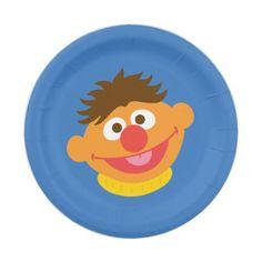 Ernie Face Paper Plate
