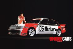 Peter -Brock -with -Marlboro -VK-Commodore -logo Australian V8 Supercars, Australian Muscle Cars, Aussie Muscle Cars, Holden Muscle Cars, Holden Australia, Holden Monaro, Sports Sedan, Drag Cars, Hot Cars
