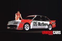 Peter -Brock -with -Marlboro -VK-Commodore -logo Australian V8 Supercars, Australian Muscle Cars, Aussie Muscle Cars, Holden Muscle Cars, Holden Monaro, Holden Australia, Sports Sedan, Drag Cars, Car Pictures