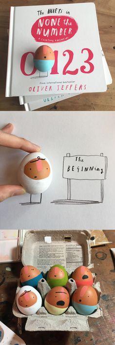 Oliver Jeffers Egg Craft based off of The Hueys series! Egg Crafts, Crafts For Kids, Best History Books, Oliver Jeffers, Frog Design, Weekend Crafts, Toddler Books, Arts Ed, Children's Book Illustration