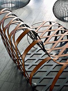 RELAXING STEEL ARMCHAIR ARIA BY @lacividina | DESIGN ANTONIO RODRIGUEZ