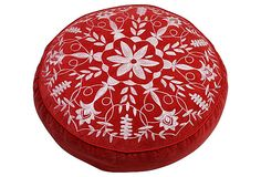 Chakra Floor Cushion, Red/White on OneKingsLane.com