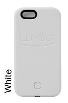 LuMee case in white - The smartphone case that lights up your face! Great for #selfies, FaceTime, Periscope, Skype, and more! www.lumeecase.com