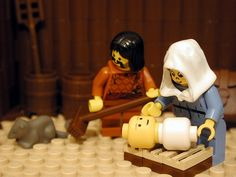 Super neat - bible scenes in Lego.  Cool way to teach little boys. // Zeke will love this!