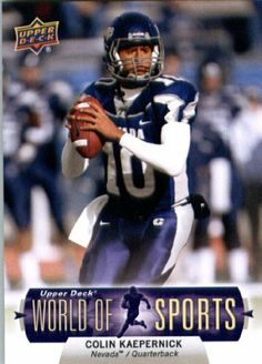 63edfe588 2011 Upper Deck World of Sports Football Card  115 Colin Kaepernick Nevada  Wolf Pack -
