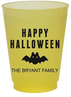 Happy Halloween Bat Colored Shatterproof Cups