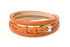 Joy de la Luz | Leather buckle bracelet camel