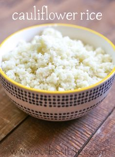 Quick and easy low carb cauliflower rice from Our Best Bites.