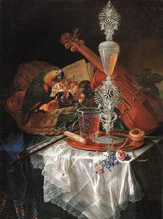Gabriele Salci (c.1681-1720) - Frutta, cristalli e strumento by Occhio Fantastico, via Flickr